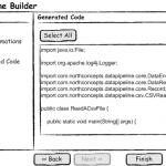 Data Pipeline Builder - Wizard - Generated Code