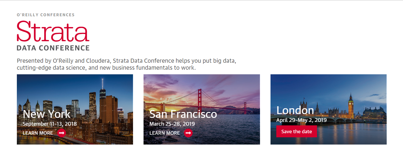 Top 10 Big Data Conferences 2019 - hortonworks.com