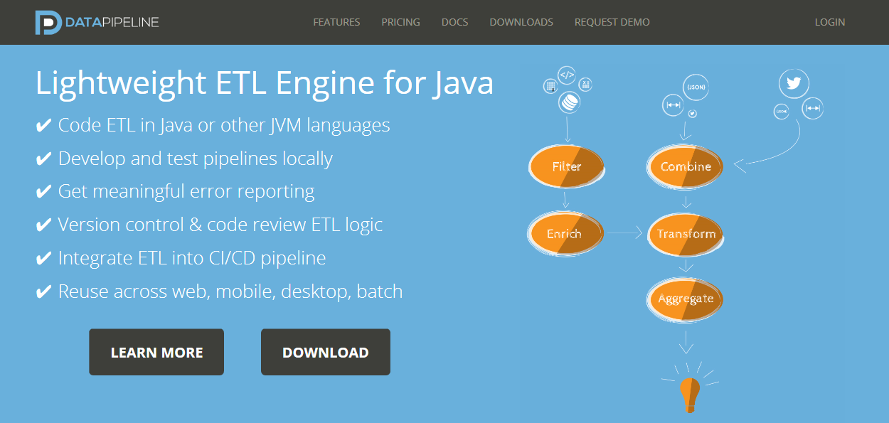 24 ETL Tools for Java Developers - Data Pipeline
