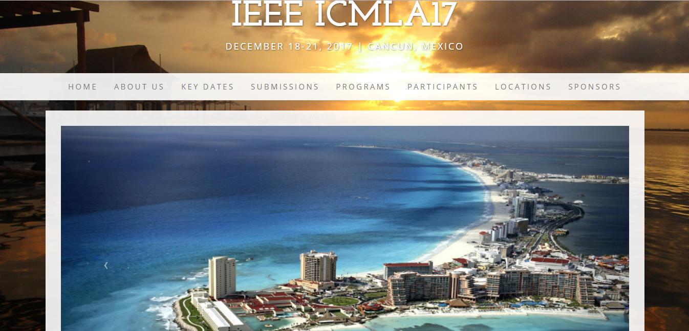 IEEE ICMLA17