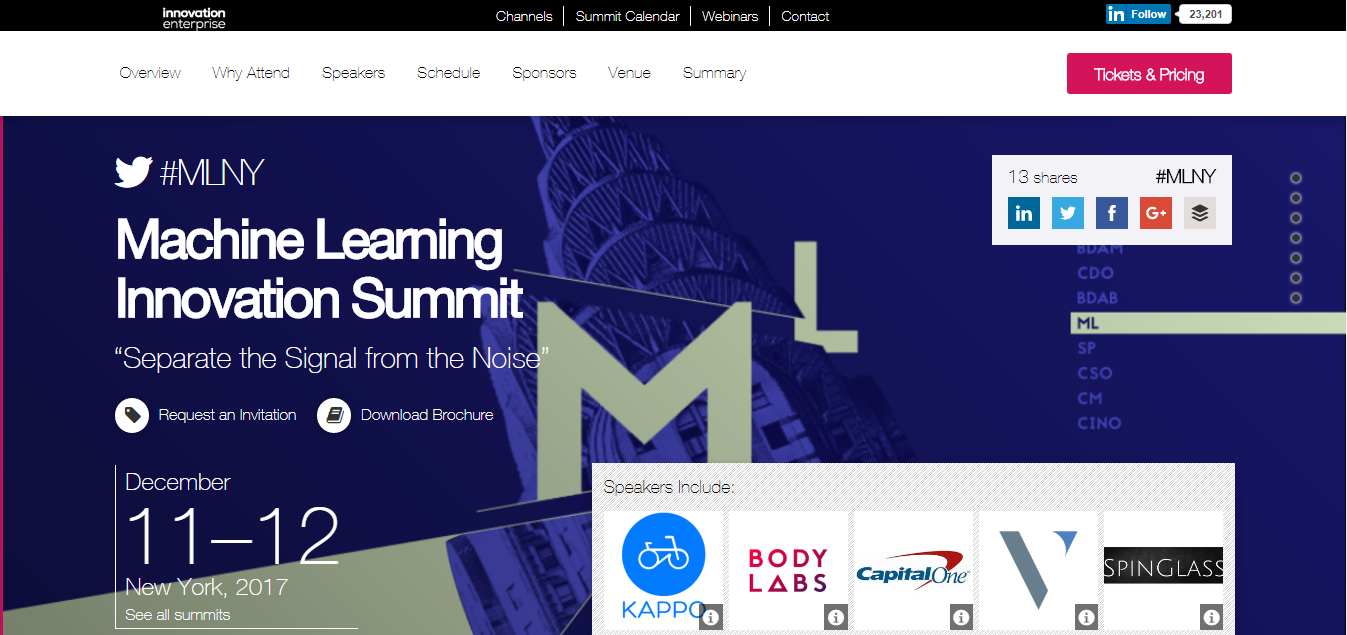 machine learning innovation summit