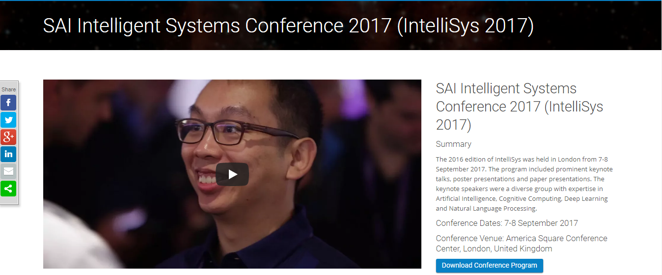 sai intelligent systems conference