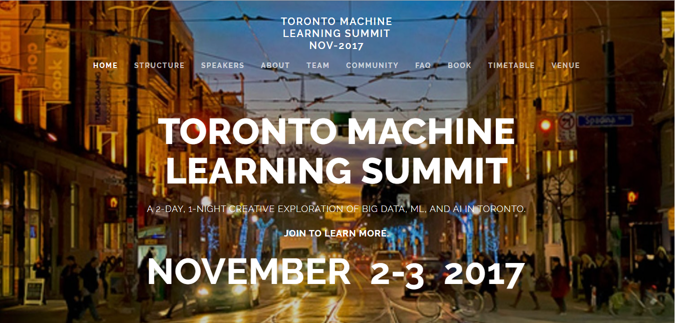 toronto machine learning summit